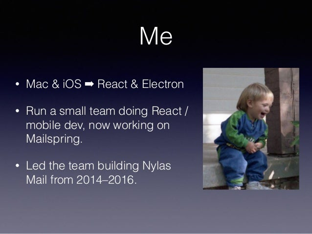 Electron performance and C++ in Mailspring Slide 2
