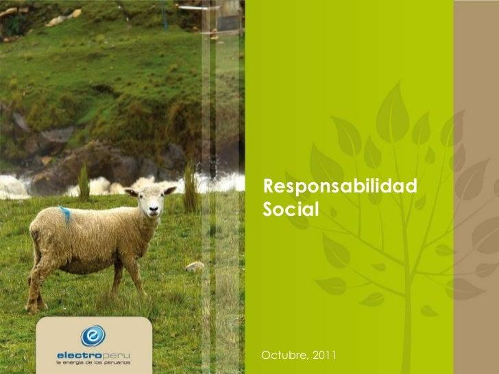 Responsabilidad Social Octubre, 2011
