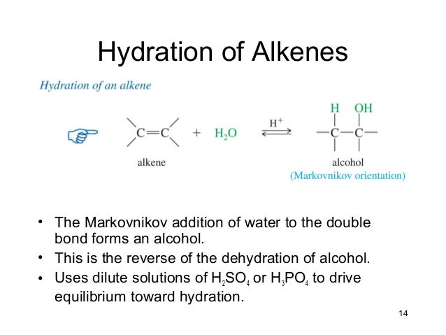 alkene synthesis from alcohol preparation of Synthesis diverse reactions of alkenes  71 preparation of alkenes: a preview of  alcohol from an alkene orientation in hydration via.
