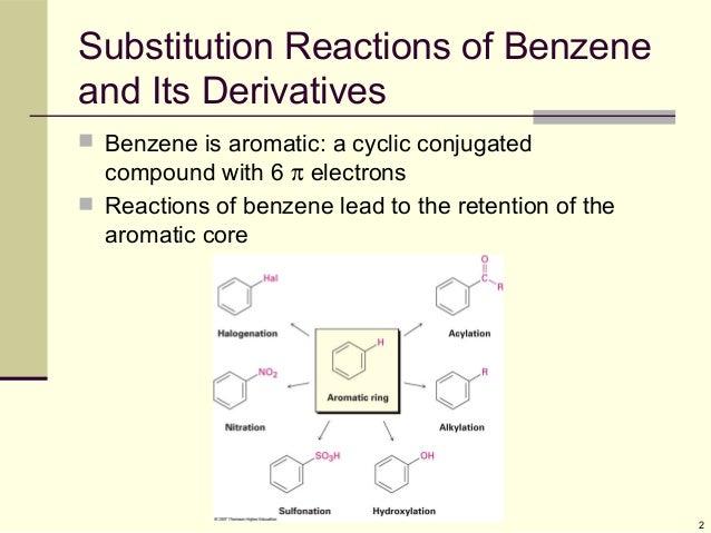electrophillic substitution of benzene