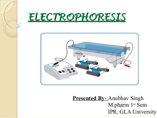 ELECTROPHORESIS  Presented By- Anubhav Singh M.pharm 1st Sem IPR, GLA University