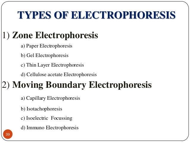 types of electrophoresis techniques