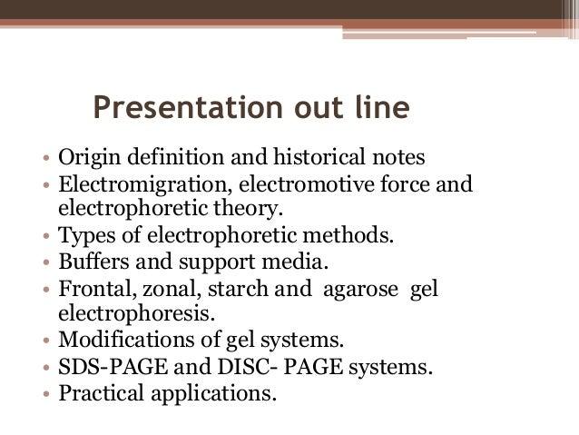 Electrophoretic techniques for life science researchers Slide 2