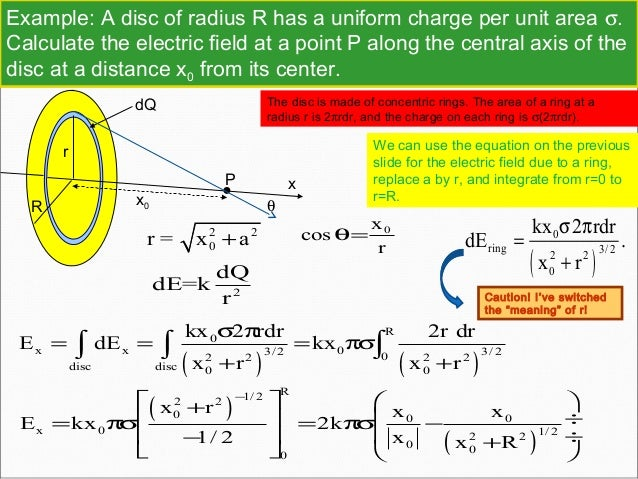 how to find distance from a central charge