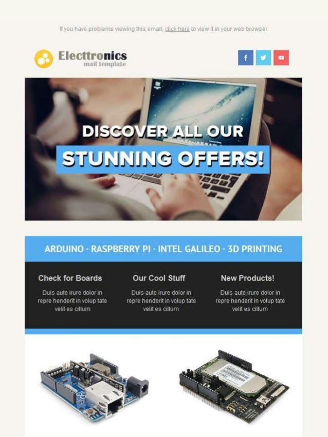 Electtronics Email Template - Responsive Email Marketing Templates Ko…