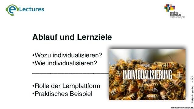 e-Lecture Individualisierung mit MOODLE Slide 2