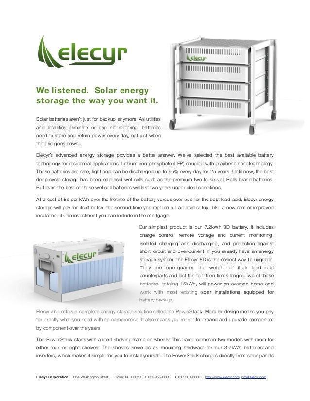 We listened. Solar energy storage the way you want it. Solar batteries aren't just for backup anymore. As utilities and lo...