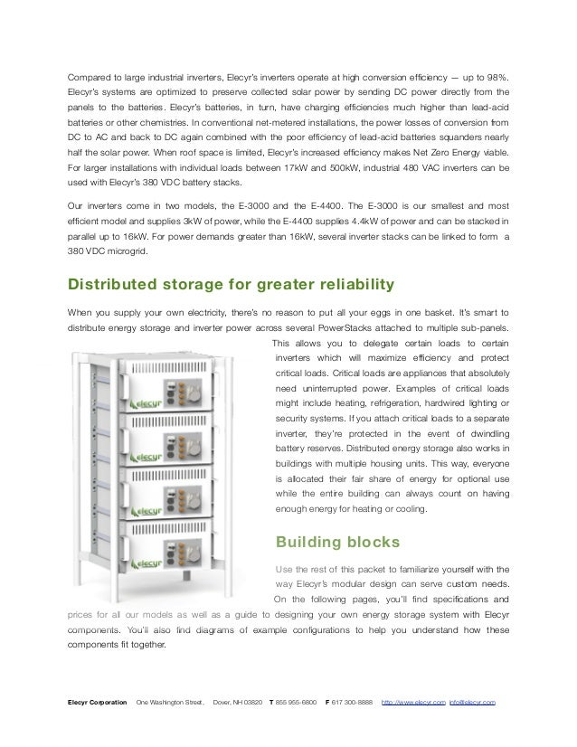 Solar energy storage the way you want it. Slide 3