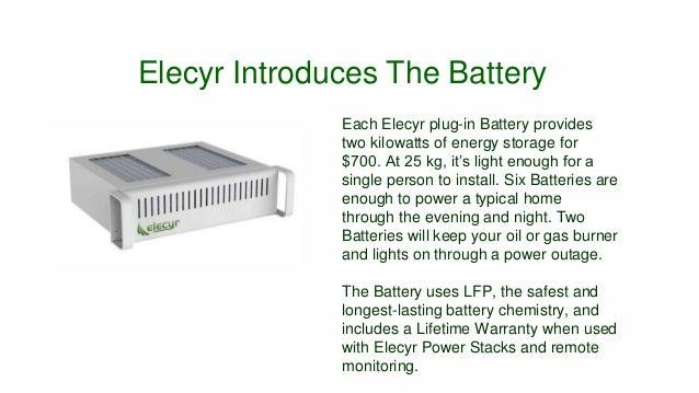 Elecyr Green Energy Storage Solution Slide 2