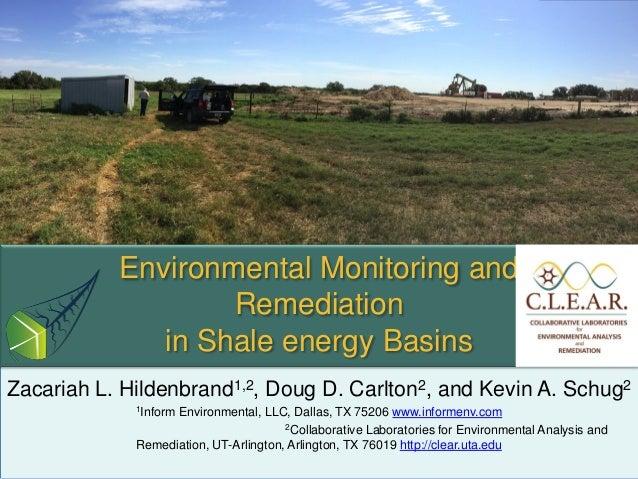 Zacariah L. Hildenbrand1,2, Doug D. Carlton2, and Kevin A. Schug2 1Inform Environmental, LLC, Dallas, TX 75206 www.informe...