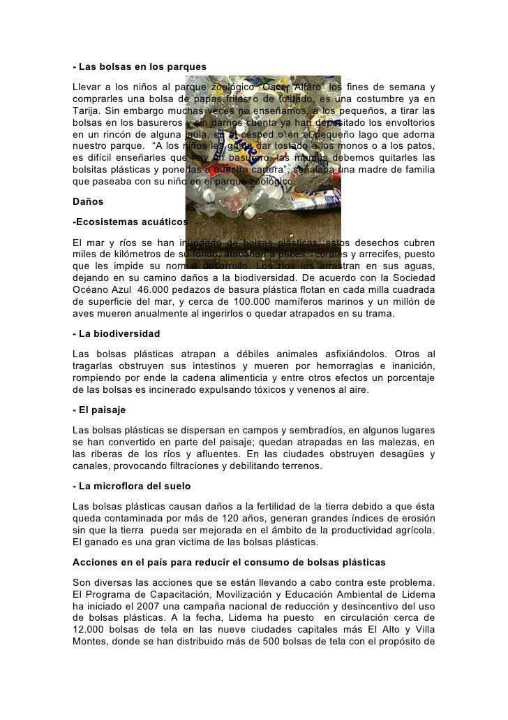 El efecto de la bolsa plástica en la biodiversidad