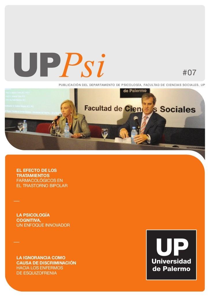 #07                PUBLICACIÓN DEL DEPARTAMENTO DE PSICOLOGÍA. FACULTAD DE CIENCIAS SOCIALES. UPEL EFECTO DE LOSTRATAMIENT...