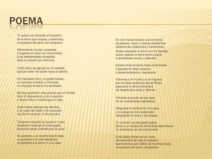 Elegía A Ramón Sijé Miguel Hernández