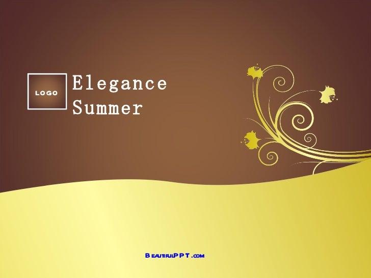 LOGO       Elegance       Summer             B eautifulPPT .com