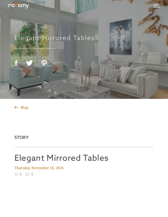 Elegant Mirrored Tables Thursday, November 10, 2016  0  0  Blog STORY ...