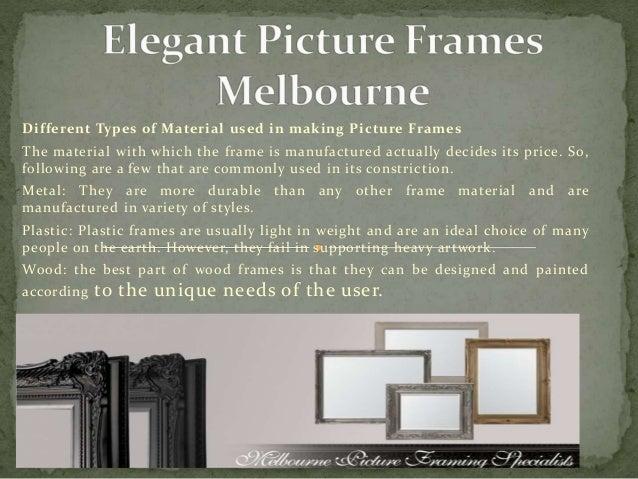 Elegant Picture Frames Melbourne CBD