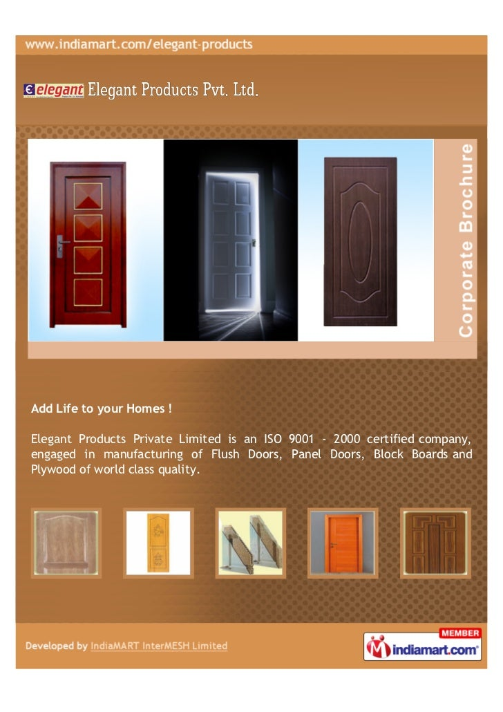 Add Life to your Homes !Elegant Products Private Limited is an ISO 9001 - 2000 certified company,engaged in manufacturing ...