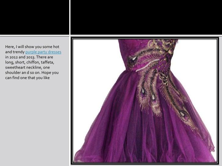 Elegant Purple Dresses For Cocktail Party Show