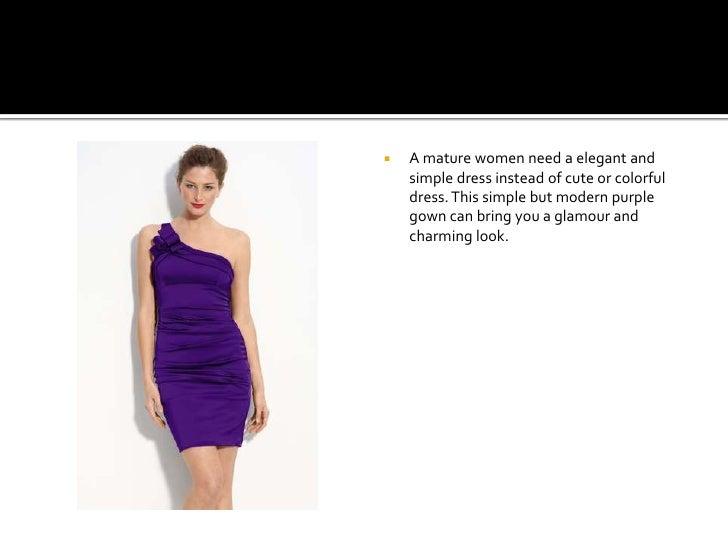 Purple Simple Dresses