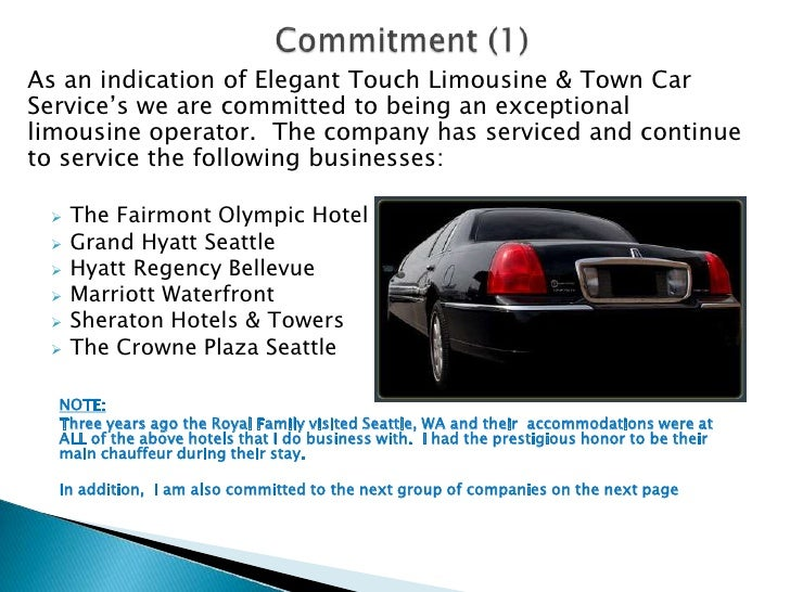 Elegant Touch Limousine & Town Car Service Proposal