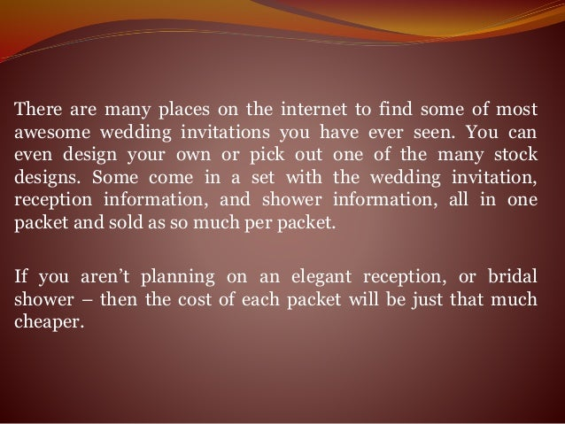 How Much Do Invitations Cost For A Wedding: Elegant Wedding Invitations Are The Bow To Tie Your Entire