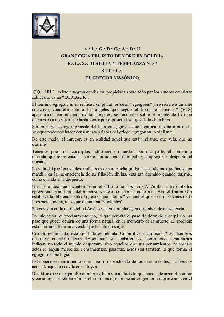 A∴L∴G∴D∴G∴A∴D∴U                GRAN LOGIA DEL RITO DE YORK EN BOLIVIA                    R∴L∴S∴ JUSTICIA Y TEMPLANZA Nº 37...