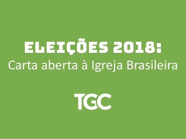 Carta aberta � Igreja Brasileira