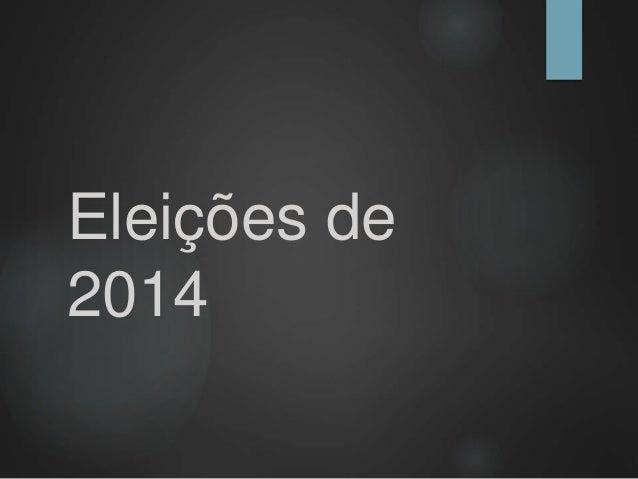 Eleições de  2014