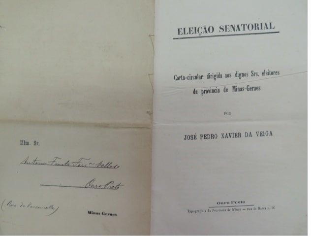 lnllng (hquae ' H  'ELEIÇÃO SENA'I'ORIAIJ  Carta-circular dirigida aos dignos Srs.  eleitores  da província de Minas-Geren...