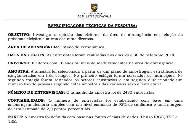 Pesquisa Eleitoral em PE - presidente [2.10.2014] Slide 2