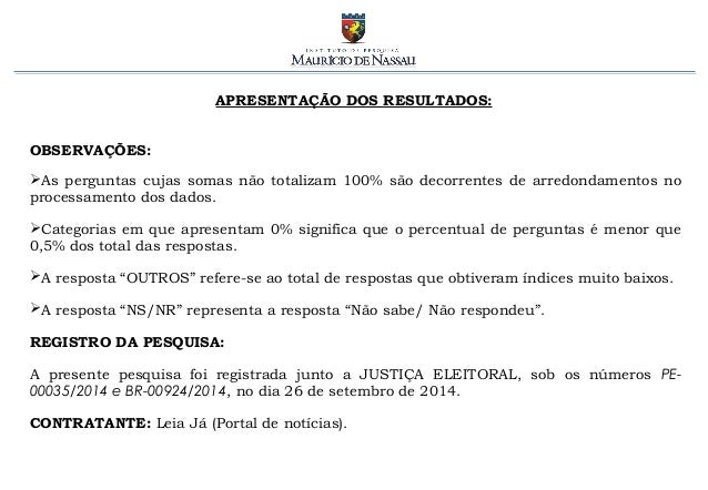 Pesquisa Eleitoral em PE - presidente [2.10.2014] Slide 3