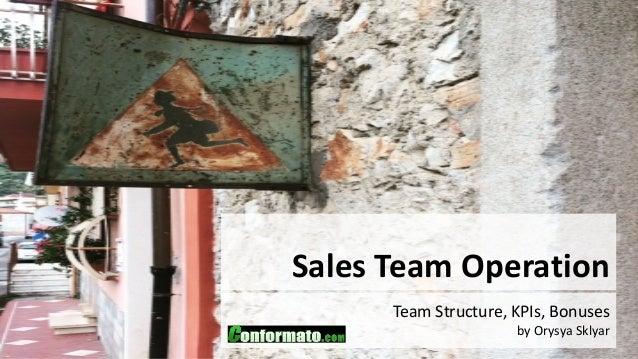 Sales Team Operation Team Structure, KPIs, Bonuses by Orysya Sklyar