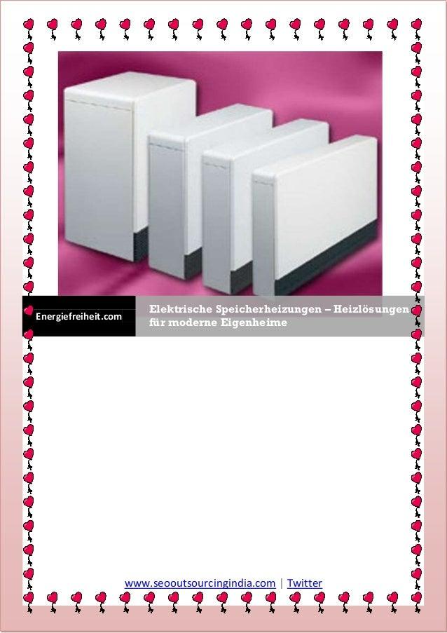 Elektrische Speicherheizungen – HeizlösungenEnergiefreiheit.com                          für moderne Eigenheime           ...