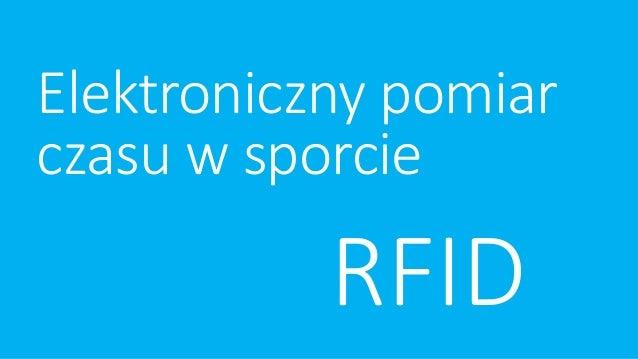 Elektroniczny pomiar czasu w sporcie RFID