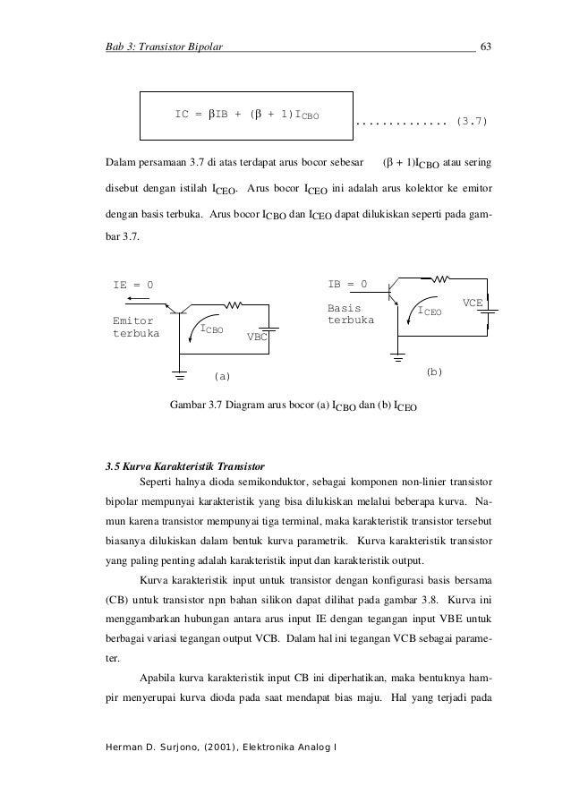 Bab 3: Transistor Bipolar                                                          63               IC = βIB + (β + 1)ICBO...