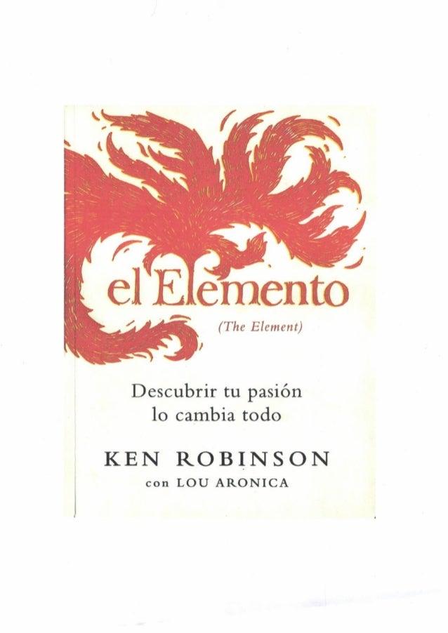 El elemento   ken robinson y lou aronica