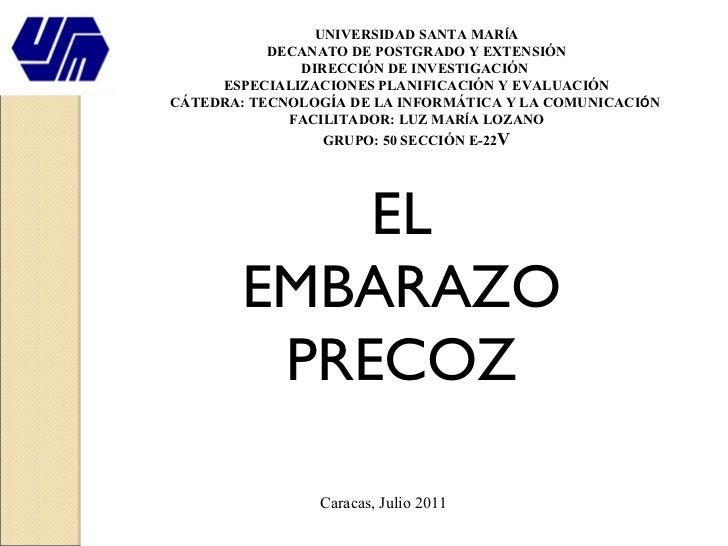 UNIVERSIDAD SANTA MAR Í A DECANATO DE POSTGRADO Y EXTENSIÓN DIRECCIÓN DE INVESTIGACIÓN  ESPECIALIZACIONES PLANIFICACIÓN Y ...