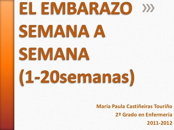 ba9494adc El embarazo semana a semana. María Paula Castiñeiras Touriño 2º Grado en  Enfermería ...