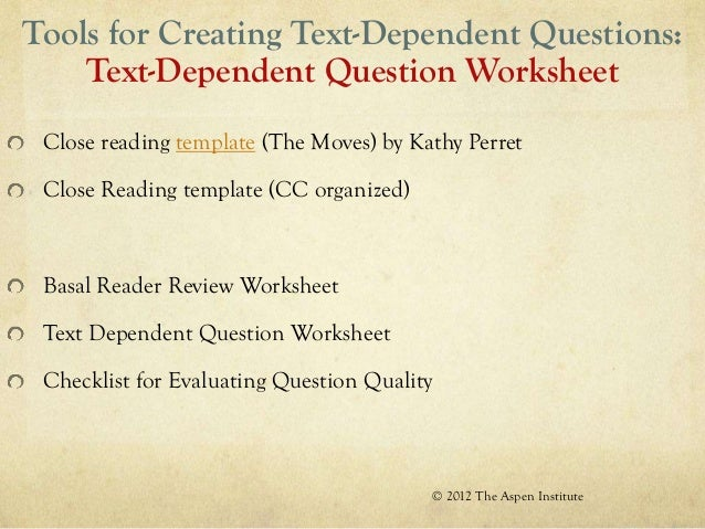 Elem close reading – Close Reading Worksheet