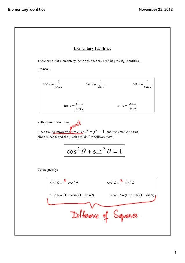 Elementaryidentities   November22,2012                                            1