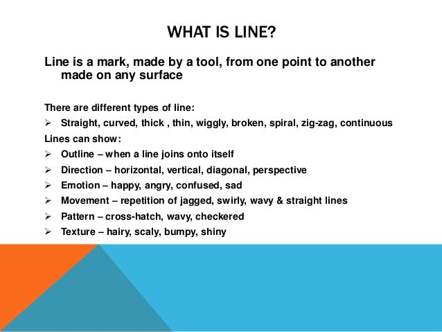 What Are The Different Elements Of Art : Elements of art line