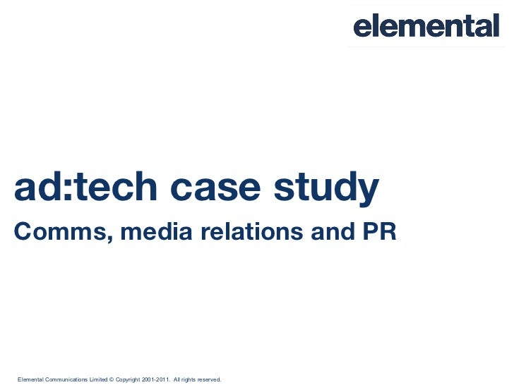 ad:tech case study Comms, media relations and PR