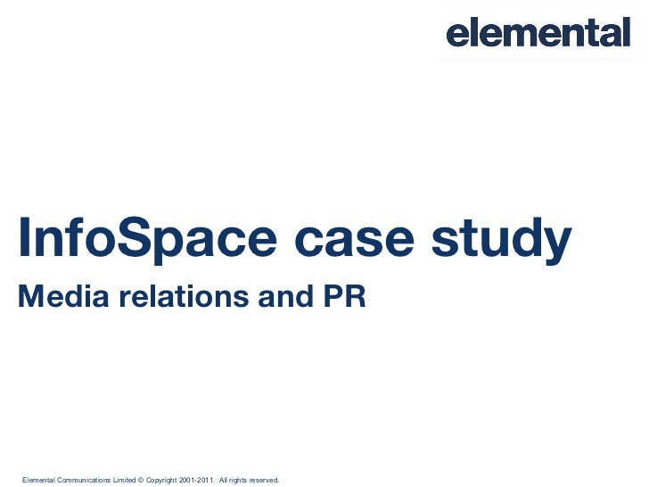 InfoSpace case study Media relations and PR