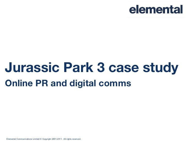 Jurassic Park 3 case study Online PR and digital comms