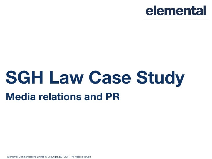 SGH Law Case Study Media relations and PR