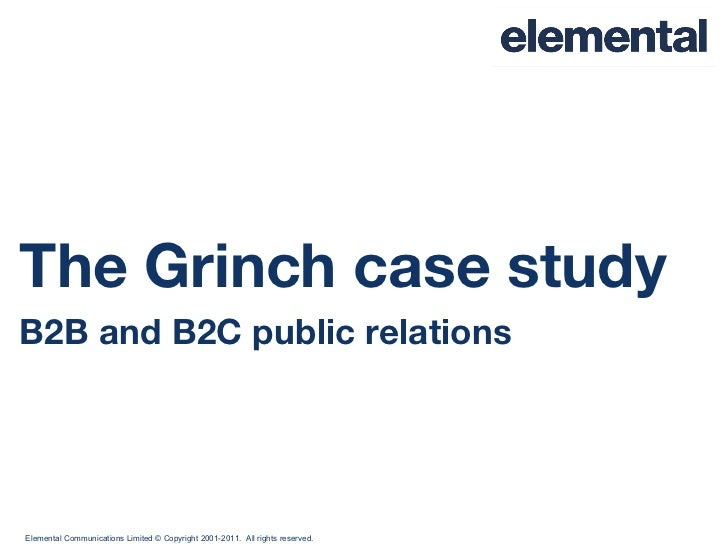 The Grinch case study B2B and B2C public relations