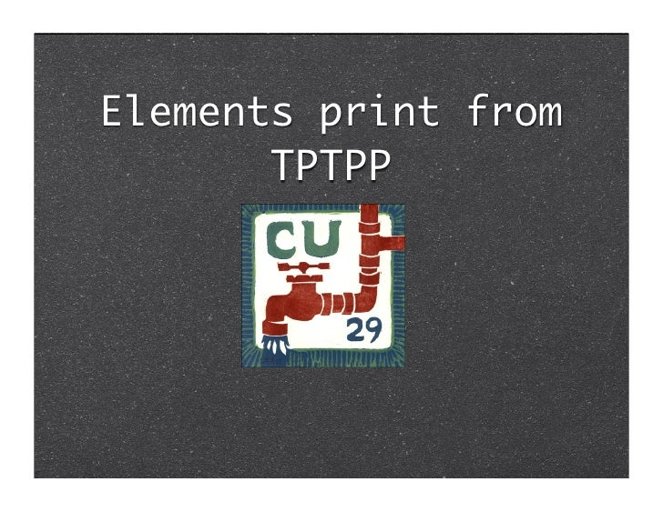 Elements print from        TPTPP