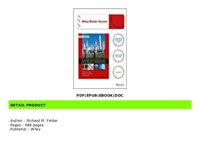 doc  elementary principles of chemical processes by