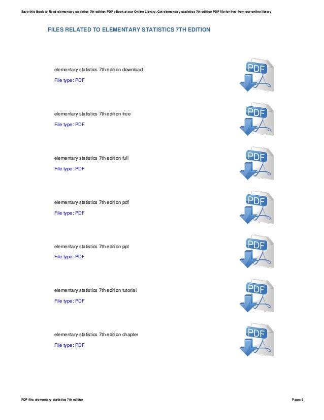 Elementary statistics 7th edition pdf file elementary statistics 7th edition page 2 3 fandeluxe Images