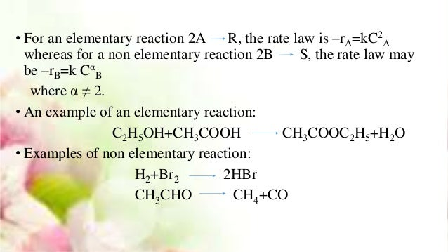 what is an elementary reaction